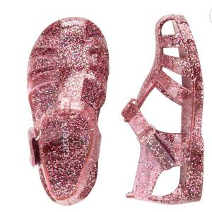NWT Carter's Jelly Glitter Sandals